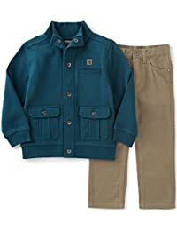 Calvin Klein Boys' Jacket with Twill Pants Set