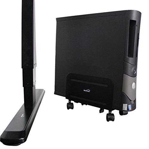 NavePoint Mobile ATX Case CPU Desktop Computer Holder Rolling Adjustable Steel Cart Stand