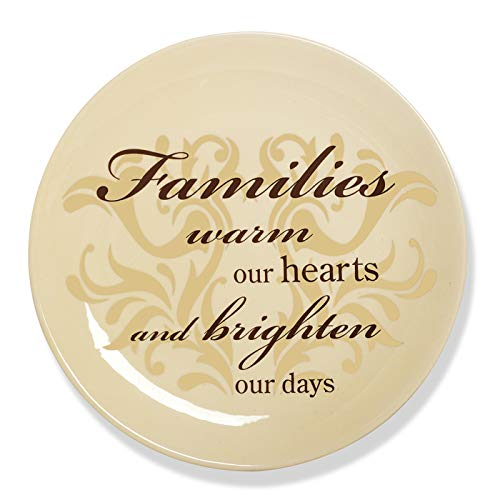 Simply Stated by Pavilion 8-Inch Plate with Metal Scroll Stand, Family Sentiment