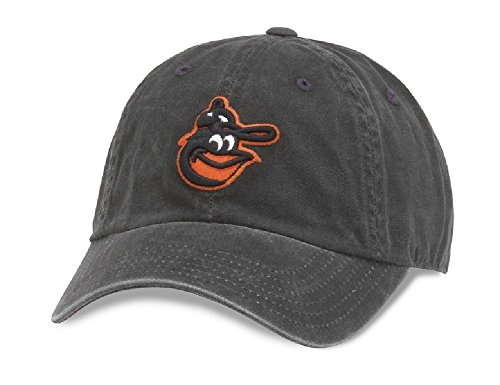 Baltimore Orioles Black Leather - American Needle MLB Baltimore Orioles New Raglin Baseball Cap