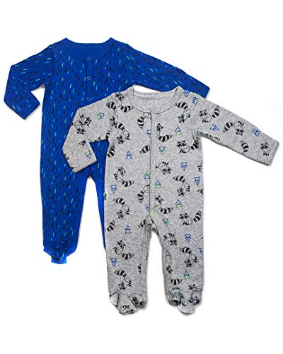 Rosie Pope Kids' Toddler Baby Boys' 2 Pack Coveralls, Hedgehogs, 6-9 Months