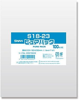 ヘイコ? OPP 봉투 (테이프 없음) 퓨어 팩 S18-23 1000 매 (100 장 × 10 봉) / Hayco OPP Bag (no Tape) Pure Pack S18-23 1000 sheets (100 x 10 bags)