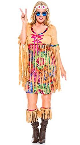 Plus Size Halloween Costumes 3x 4x (Music Legs Plus Size Retro Hipster (3X4X))