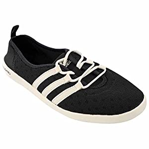adidas Outdoor Women's Climacool Boat Sleek Water Shoe, Black/Chalk White/Black, 9.5 M US