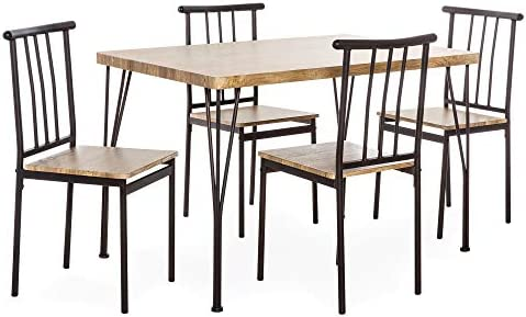 home, kitchen, furniture, kitchen, dining room furniture,  table, chair sets 8 discount Best Choice Products 5-Piece Indoor Modern Metal deals