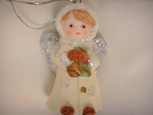 Angel Bell Porcelain Christmas Ornament 2.5