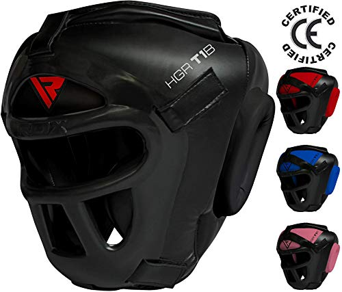 RDX Head Guard Maya Hide Leather Boxing Headgear MMA Protector Headgear UFC Fighting Sparring Helmet