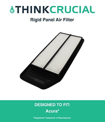 Premium Rigid Panel Air Filter Fits Acura TSX, Honda Accord Cars, Maximum Air Flow, 1.57 x 5.92 x 13.5 in., Part # A25503, CA9564, by Think Crucial