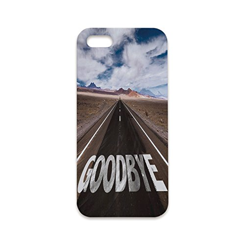 Phone Case Compatible with iPhone6 Plus iPhone6s Plus 3D Print,Going Away Party Decorations,Goodbye Written on Asphalt Road Highway City Urban Words,Brown Blue White,Customized Phone Case -