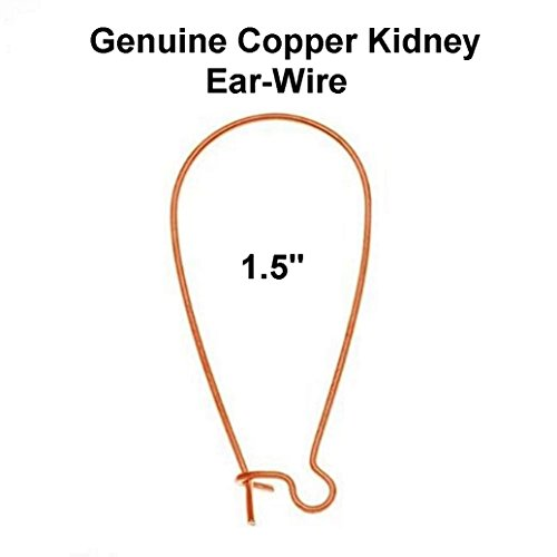 Genuine Copper Kidney Ear Wire (1.5