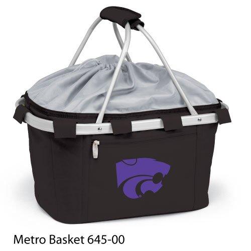Picnic Time Metro Basket Kansas State Wildcats Print,Black,US by PICNIC TIME