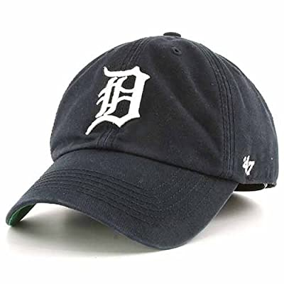 Detroit Tigers Navy Franchise Fitted Cap by '47 Brand Blue 7 3/4 - 7 7/8 (2XL)