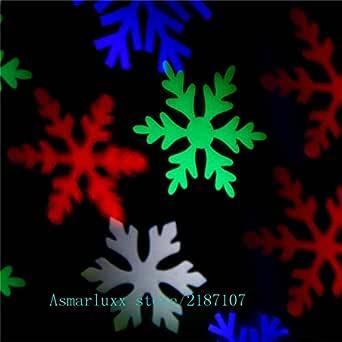 Proyector de copo de nieve en movimiento Interior/exterior LED ...