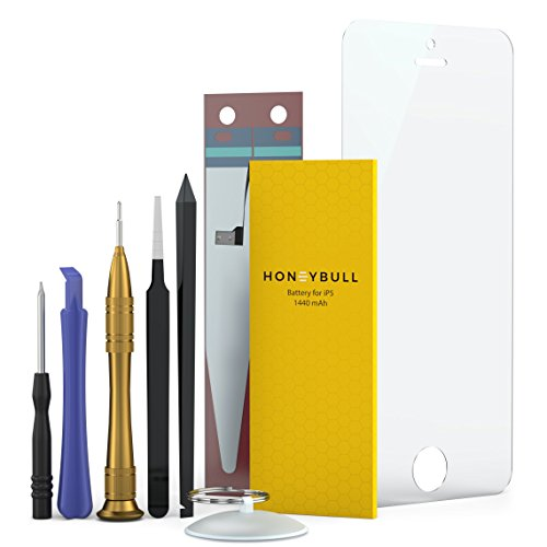 HoneyBull Replacement Battery iP5 [1440 mAh] Repair Kit Tools Included | New Backup Battery Kit Not for ip5s or ip5c