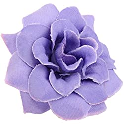 MonkeyJack 50Pieces Artificial Flower Heads,Roses bulk Bridal Shower Decorations Wedding Favor Centerpieces - Lilac