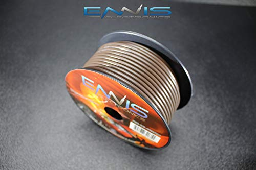 - 12 GAUGE WIRE BROWN BY ENNIS ELECTRONICS 100 FT SPOOL PRIMARY AUTOMOTIVE AWG COPPER CLAD