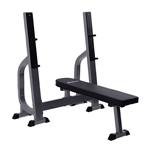 Costway Weight Lifting Flat Bench Fitness Workout Sit Up Board Home Exercise Gym by Apontus