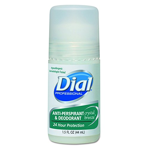 Dial 07686 Anti-Perspirant Deodorant, Crystal Breeze, 1.5oz, Roll-On (Case of 48) ()