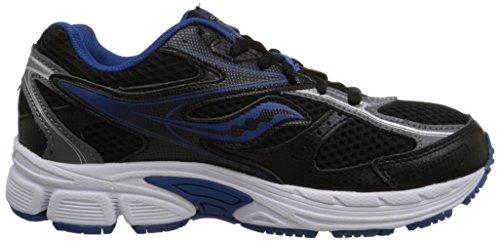 Saucony Cohesion 8 Lace Sneaker (Little Kid/Big Kid) Black/Blue