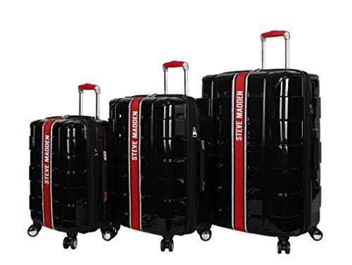 Steve Madden Street Hard Case 3 Piece Spinner Suitcase Set Collection