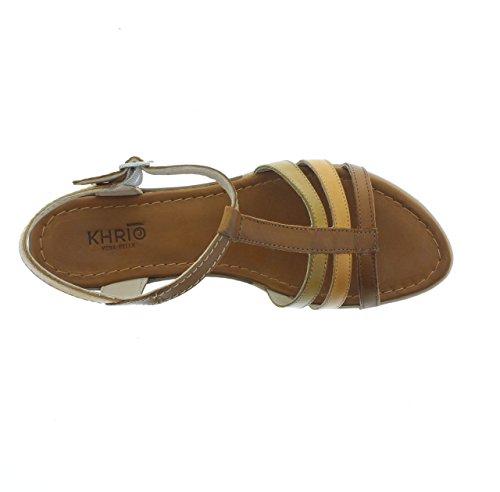 Cuir Sandale Sandale Cuoio Cuoio cannella Cuir Khrio181K8703MHQ Khrio181K8703MHQ Bx6ZwZFT