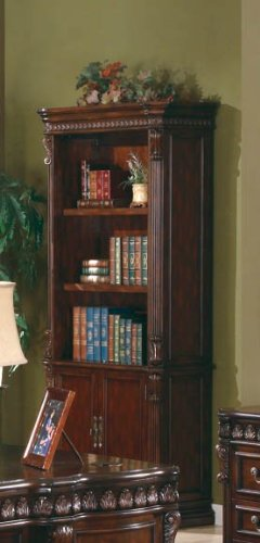 Cheap Coaster Tucker Traditional Rich Brown Open Bookcase with Storage Base
