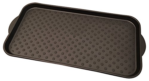 Multi-Purpose Boot Tray by Blink Designs for Large Shoes, Pets, Dog Feeding Mat, Plants, Gardening, Doormat - Waterproof Utility Tray with Easy Lift Handles & Raised Rim - Protect Your Floors Today! (Ak Cat Litter)