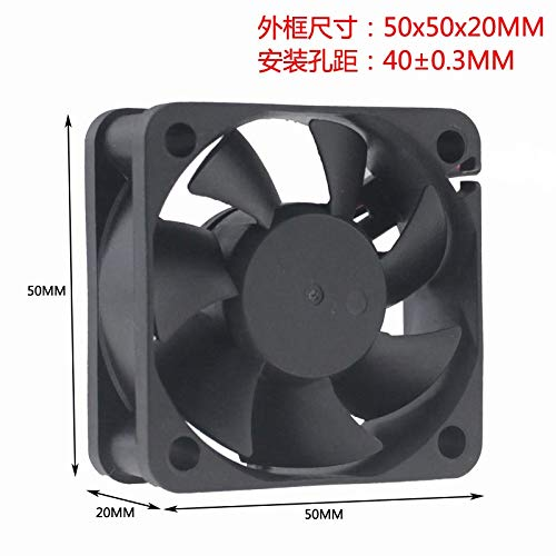 REFIT New DC12V 5CM 5 cm cm Double Ball Bearing brushless Cooling Fan