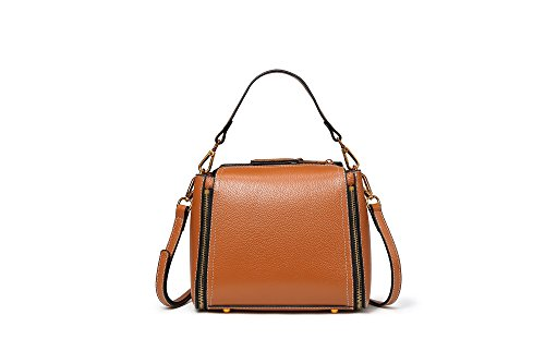 (Ruiatoo New Trend Handbag for Women Crossbbody Bag Soft Leather Satchel Earth Yellow (L))