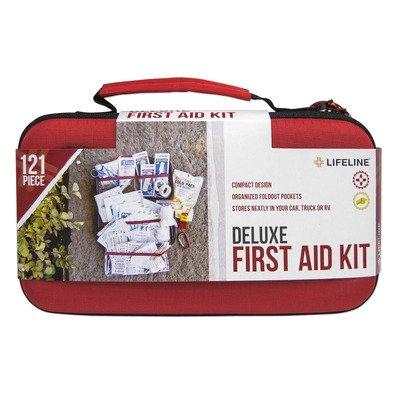 Deluxe Hardshell - Lifeline Deluxe Hard-Shell Foam First Aid Kit - 121 Piece
