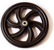 """HEALTHLINE Walker Rollator Replacement 7.5"""" Wheels (Front) Black"""