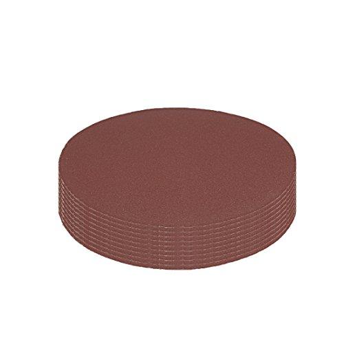 Hook and Loop Sanding Disc 400 Grits Flocking Sandpaper for Random Orbit Sander Brown ()