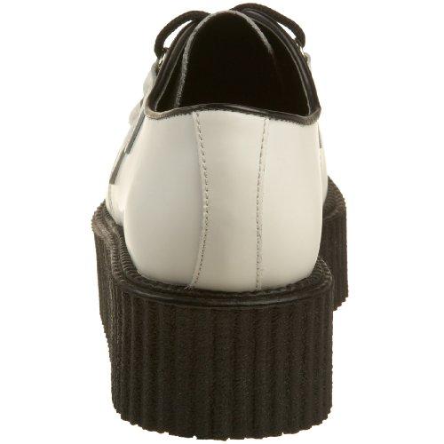Demonia CREEPER-402 - Zapatos de cordones de Piel para hombre Weiss