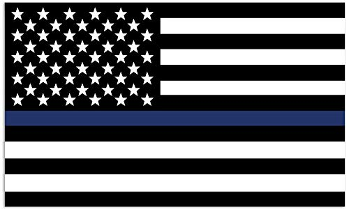 (Mind Your Magnets American Flag Car Magnets - Thin Blue Line - Police, Sheriff, SWAT, Air Force, Navy Flags)