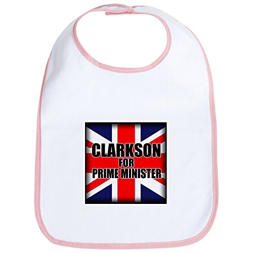 CafePress - Clarkson for Prime Minister Bib - Cute Cloth Baby Bib, Toddler Bib