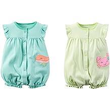 Carter's Baby Girls Cotton Romper Set - Sea Life