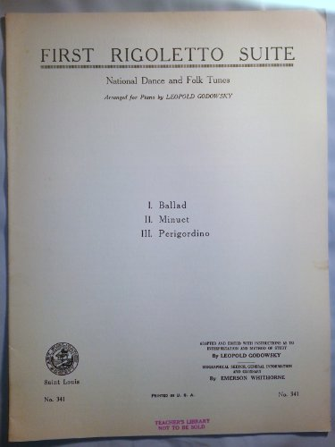 First Rigoletto Suite Rare Vintage Piano Sheet Music ()