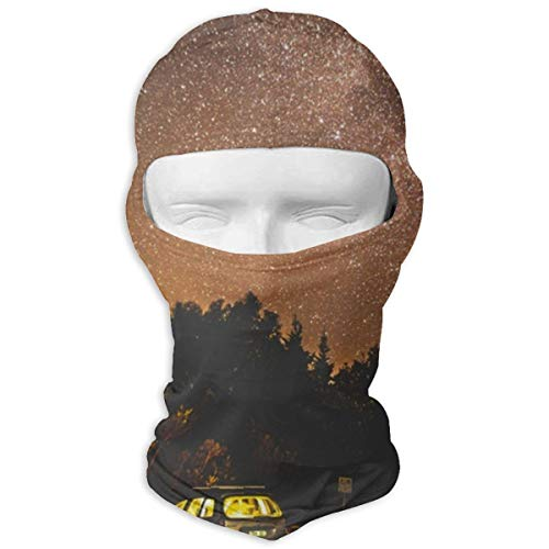 JJKYL Milky Way Over Silhouette Trees and Car Full Face Mask Hood Sunscreen Mask Cycling Hunting Hiking Skiing Mask Dual Layer Cold for Men and Women