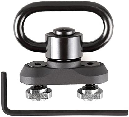 360/° Rotation 1.25 Inch Quick Detach Push Button QD Sling Swivels Mounts Adaptor for M-lok System Bluelliant M-LOK QD Sling Mount Sling Swivels