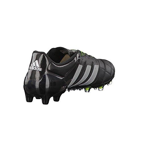 adidas Herren Ace 15.1 FG/AG Leath Stollenschuh Schwarz/Silber