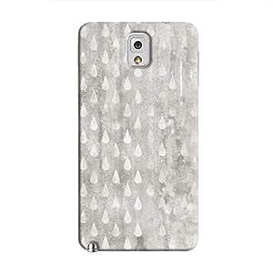 Cover It Up - Raindrops Grey Mosaic Galaxy Note 3 Hard Case