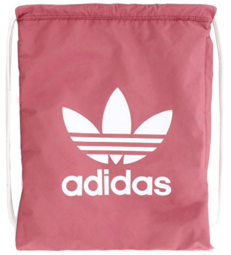 adidas Originals Trefoil Sackpack, Trace Maroon Pink/White, One Size