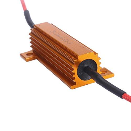 TONSEE 50W 6Ohm Car LED DRL Fog Turn Singal Load Resistor for Fix LED Bulb