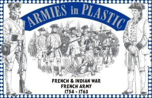 French & Indian War 1754-1763 French Army (16) 1-32 Armies in Plastic (Plastic Games War Figures)