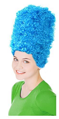 Blue Marge Wig Blue Beehive Marge Costume for Adults ()