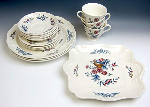 Lot of 14 Wedgwood China WILLIAMSBURG POTPOURRI Plates,Cup,Cake plate - Potpourri Wedgwood