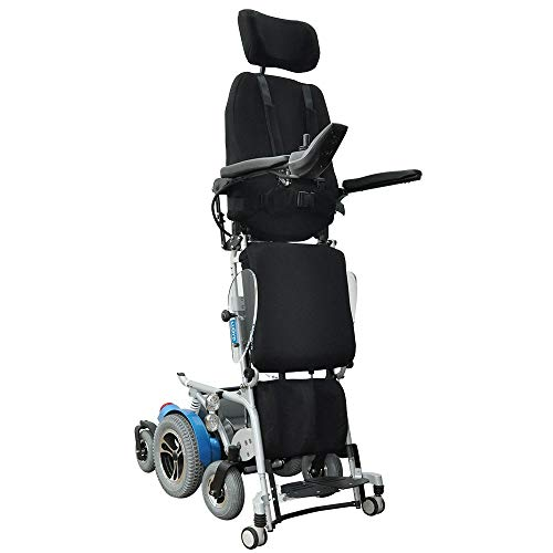 Draco Standing Power Wheelchair (30km Range) Fully Reclining Electric Mobility Stand-up Motorized Wheel Chair Fully Powered Standing 2 Year Warranty (18 inch Seat and Left Hand Side Controller)