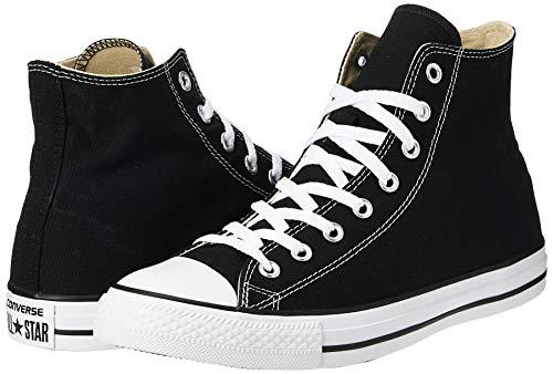 Converse Clothing & Apparel Chuck Taylor All Star Canvas High Top Sneaker, Black/White, 12 Women/10 Men
