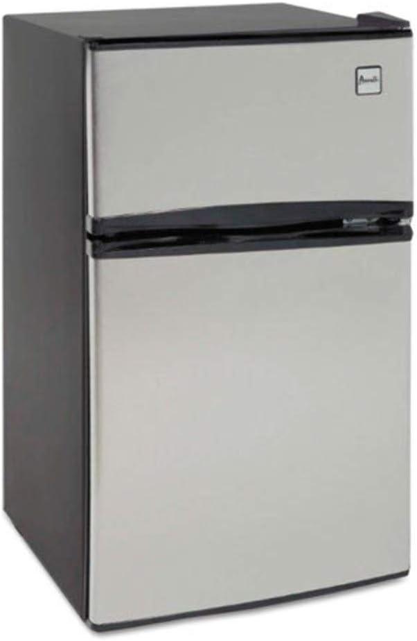 Avanti RA3136SST Counter-Height 3.1 Cu. Ft Two-Door Refrigerator Freezer, Black Stainless Steel