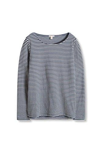 ESPRIT, Camisa para Mujer Multicolor (Navy 400)